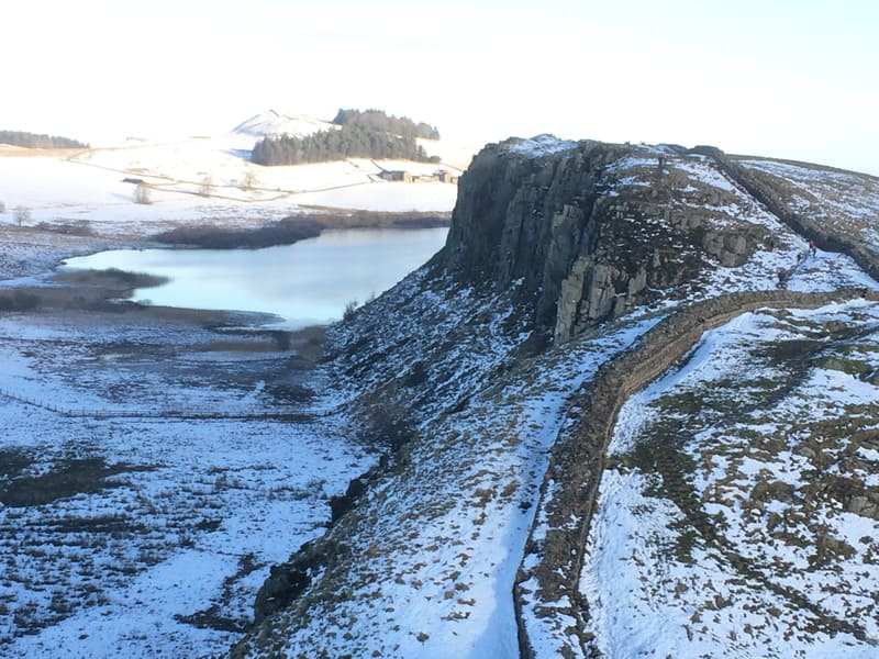 Hadrian's Wall on the way to Sycamore Gap