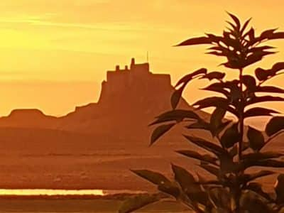 Lindisfarne Castle at Easter