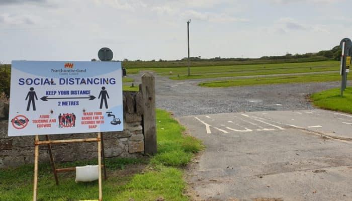 Car park open on holy island
