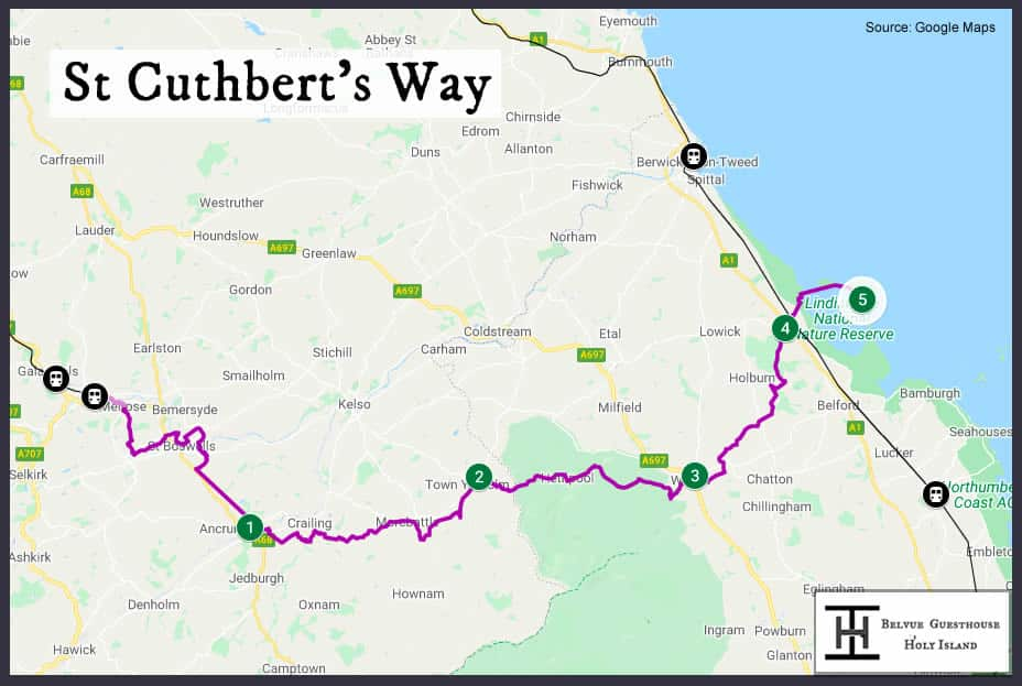 St Cuthbert's Way Map