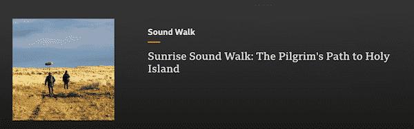 Sunrise Walk along the Pilgrim's Way to Holy Island